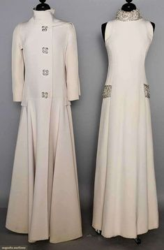 Jeweled Evening Gown & Coat, Late 1960s.
