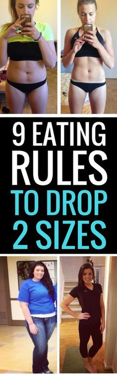 9 eating tips and tricks to help you drop 2 dress sizes in 2 weeks.