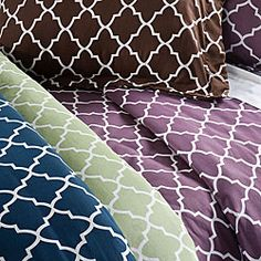 Duvet covers. Love the pattern in sage