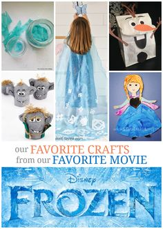 If you love Frozen then you'll love these Frozen crafts to create your own Olaf, Elsa and Anna!