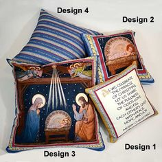 Share the Advent Tradition with These Zippered Pillow Covers in Religious Themes. Made of Textured Twill. http://www.printeryhouse.org/