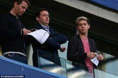 Niall Horan watches Chelsea play Paris Saint-Germain
