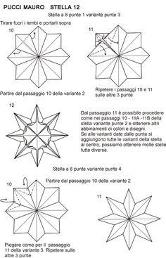 Origami Mauro Diagrammi Miei Modelli Stelle