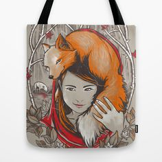 Safe in My Red Riding Hood Tote Bag