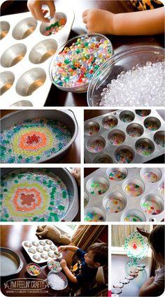 DIY Suncatchers by melting plastic beads!! FUN
