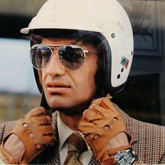 Belmondo racing, stuning fashion look along with a vintage rolex
