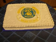 Relief Society Birthday Celebration sheet cake - Amazing!