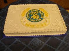 Relief Society Birthday Celebration sheet cake - Amazing!