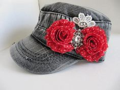 Gray Hat Military Cadet Hat Cadet Hat Womens by GoldenDreamFinds