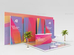 Buy Trade Show Booth Mockups by Wutip on GraphicRiver. Another designed booth mockup continue to come out to satisfy your demanding customers. This booth surely reflects th. Exhibition Stall, Exhibition Stand Design, Exhibition Ideas, Exhibition Display, Signage Design, Graphic Design Branding, Corporate Design, Environmental Graphic Design, Environmental Graphics
