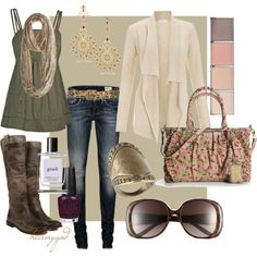"""""""One fine day.."""" by heismygod on Polyvore.   Shirt pants and sweater only"""