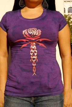 Womens Shirt Purple Tie Dyed Top Pink Tribal by LasciviousGrace, $24.00