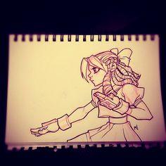 Street Fighter Sketch : Karin by *Zatransis on deviantART