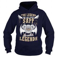 I Love SAPP  SAPPYear  SAPPBirthday  SAPPHoodie  SAPPName Shirts & Tees