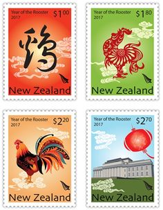 Year of the Rooster Stamps – New Zealand