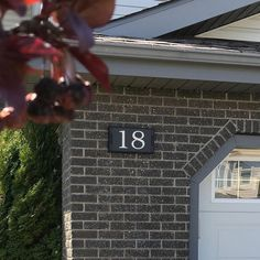 Installed this weekend. Canada House, Address Plaque, House Numbers, Tile, Iron, Signs, Studio, Instagram, Mosaics