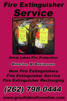 Fire Extinguisher Service Waterloo, WI (262) 798-0444 Local Wisconsin Businesses Discover the Complete Fire Protection Source.  We're Great Lakes Fire Protection.. Call us today!