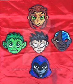 Teen Titans Bead Sprites by prettypixelations