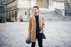 Look manteau couleur camel #style #menstyle #menswear #mensfashion #streetstyle #look #mode #manteau #harmony #paris