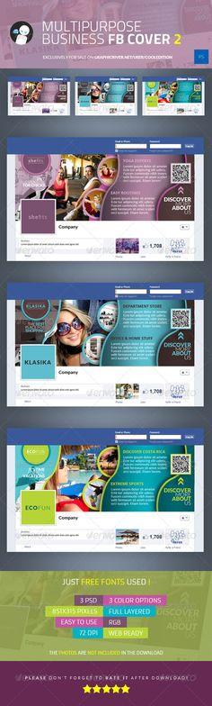 Multipurpose Business Facebook Cover 2 - $2