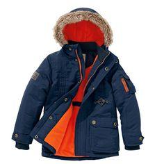 Kapuzenparka mit Fleecefutter, #Kindermode #Jungenbekleidung #Jacke #Parka