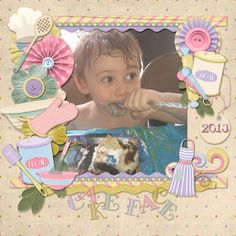 8/18/13 Gotta Pixel Digital Scrapbook LOTD: Today's Layout of the Day is Cake Face by vanessagayle. www.gottapixel.net/