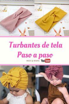 Sewing Headbands, Diy Baby Headbands, Diy Hair Bows, Diy Headband, Baby Bows, Turban Headband Tutorial, Baby Dress Tutorials, Sewing Tutorials, How To Make Turban