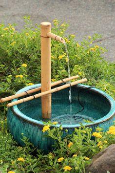 Bamboo Adjustable Fountain Kit, 18u201d