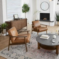 Named for the way its leather seat peeks through its solid wood frame, our Mid-Century Show Wood Chair packs good looks and comfort into one sleek silhouette. Did we mention its sculptural arms and wide, welcoming seat? Living Room Accents, Accent Chairs For Living Room, New Living Room, Living Room Decor, Leather Living Room Chair, Modern Accent Chairs, Modern Wood Chair, Modern Furniture, Furniture Design