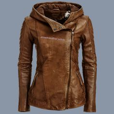 Brown Warm Leather Jacket for Winter