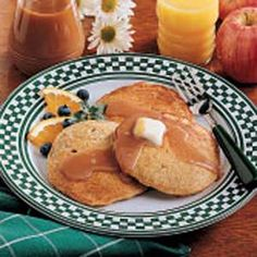 Oatmeal Pancakes Recipe -These pancakes were served for a fund-raiser at our church many years ago. We fed about 140 people and had a lot of fun. The buttermilk syrup is a nice change from maple syrup.