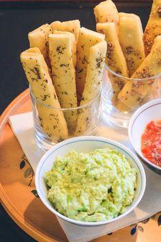 Grissini med guacamole opskrift
