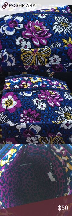 "Vera Bradley Tote Never used with tags Vera Bradley Tote in ""African Violet"". Includes 3 interior pockets. Vera Bradley Bags Totes"