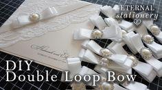 How to: Make a perfect satin ribbon bow - Wedding Invitation DIY