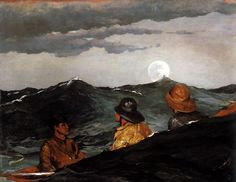 Kissing Moon by Winslow Homer