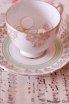 Tea Cup and saucer.......pretty !!!~