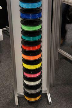 Allerlei verschillende kleuren filament