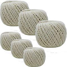 Lot de 18-80m ménage/bricolage/jardin Home Office Boule de coton corde Ficelle en corde: Les boules tout en coton sont idéales pour une…