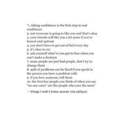 What everyone needs to know/hear