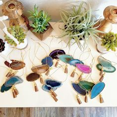 These Modern Boho Agate Holiday Ornaments are selling fast folks!! Only a few sets left! Get 'em while ya can!!