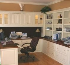 Enjoyable Sage And Mushroom Finishes Star In This Timeless Home Office The Largest Home Design Picture Inspirations Pitcheantrous