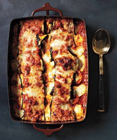 Eggplant Parmesan Rollatini - Give eggplant parm a twist—literally—by rolling the ricotta mixture inside each pre-baked eggplant slice before topping with marinara and mozzarella. Get the recipe for Eggplant Parmesan Rollatini. Veggie Dishes, Veggie Recipes, Vegetarian Recipes, Cooking Recipes, Healthy Recipes, Simple Recipes, Raw Recipes, Dinner Recipes, Parmesan Recipes