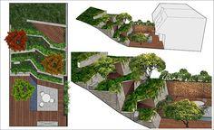 The Hilgard Garden, designed by Mary Barensfeld Architecture Café Exterior, Exterior Stairs, Craftsman Exterior, Cottage Exterior, Bungalow Exterior, Exterior Shutters, Wood Shutters, Exterior Remodel, Modern Exterior