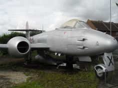 Gloster Meteor at Tangmere Military Aviation Museum in July Gloster Meteor, Royal Air Force, Cold War, Helicopters, Military Aircraft, Airplanes, Ww2, Fighter Jets, Aviation