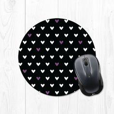 Heart Pattern Mousepad  Radiant Violet Purple and by fieldtrip, $12.00