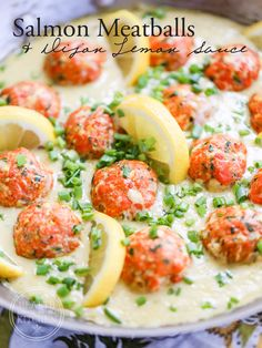 Salmon recipes 565342559454932279 - Salmon Meatballs with Dijon Lemon Sauce {Low-Carb, Keto & Grain-Free} Source by mysillystuff Fish Recipes, Seafood Recipes, Keto Recipes, Cooking Recipes, Healthy Recipes, Canned Salmon Recipes, Tilapia Recipes, Lemon Cream Sauces, Lemon Sauce