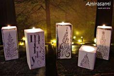 Świeczniki świąteczne Amirasanti. Zapraszam do odwiedzenia mojej strony www.amirasanti.pl i fb.