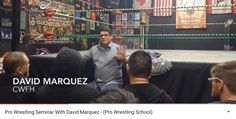 David Marquez from Championship From Hollywood held a seminar at Santino Bros Wrestling Acdemy. If you would like to purchase the seminar uncut.