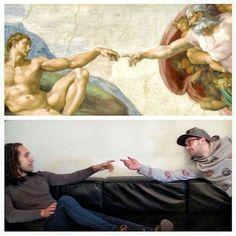 Estas dos personas se dedican a recrear obras de arte en su tiempo libre - http://dominiomundial.com/recrean-obras-de-arte/?utm_source=PN&utm_medium=Pinterest+dominiomundial&utm_campaign=SNAP%2BEstas+dos+personas+se+dedican+a+recrear+obras+de+arte+en+su+tiempo+libre
