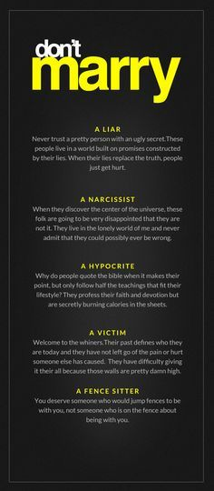 re: victim, as in still living as one, add onto the list a cheater. If they cheated on someone to marry you, well expect them to continue the habit.